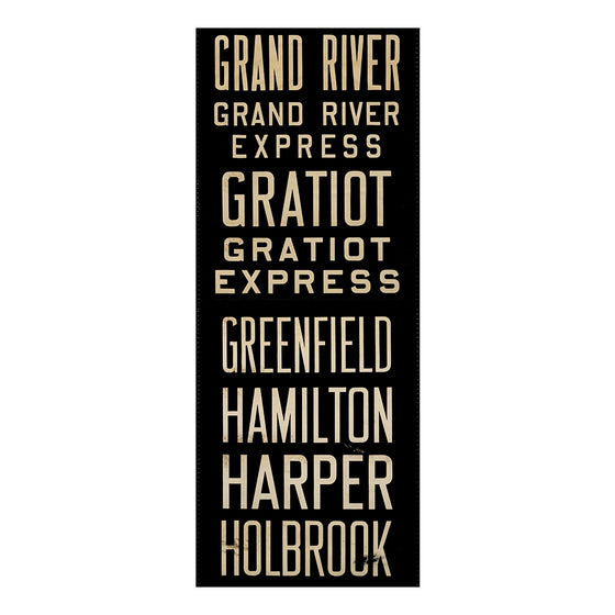 Grand River Detroit Scroll Wall Art DS13