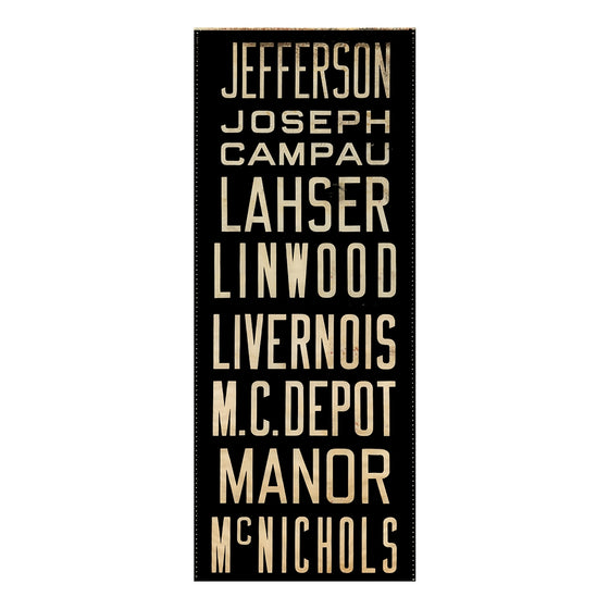 Jefferson Detroit Scroll Wall Art DS5