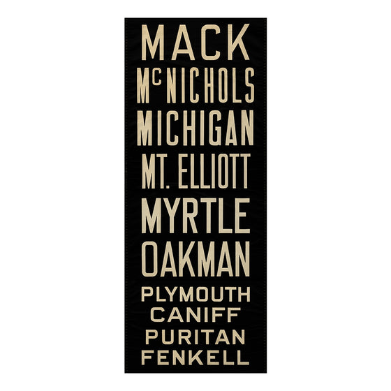 Mack Detroit Scroll Wall Art