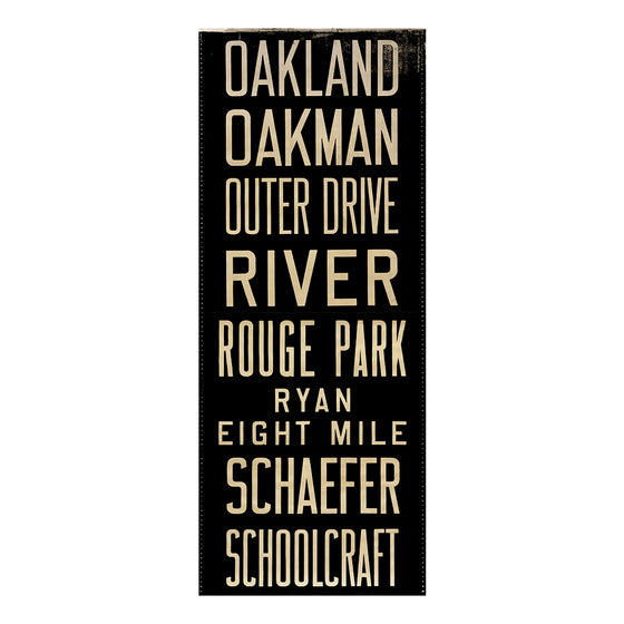 Oakland Detroit Scroll Wall Art DS7