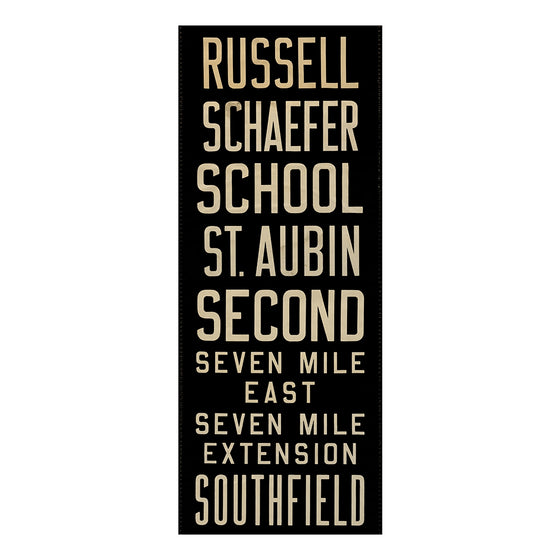 Russell Detroit Scroll Wall Art DS16