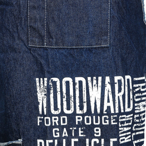 Detroit Scroll Denim Apron