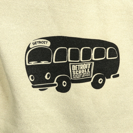 "Detroit Scroll ""Around The Block"" Sand Hoodie Sweatshirt"