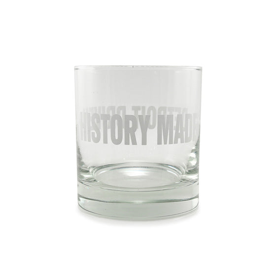 "Detroit Scroll ""History Made Detroit Driven"" Rocks Glasses -- Set of 4"