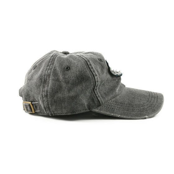 "Detroit Scroll ""Told You So"" Low-Profile Black Washed Adjustable Cap"