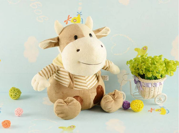 30cm Plush Brown Cow