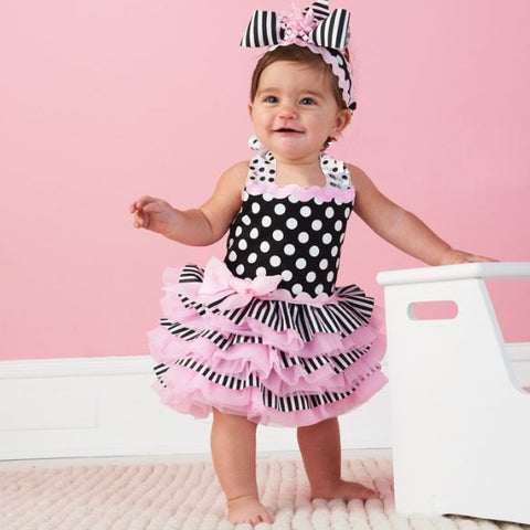 Adorable Pink Ruffle Tutu Dress
