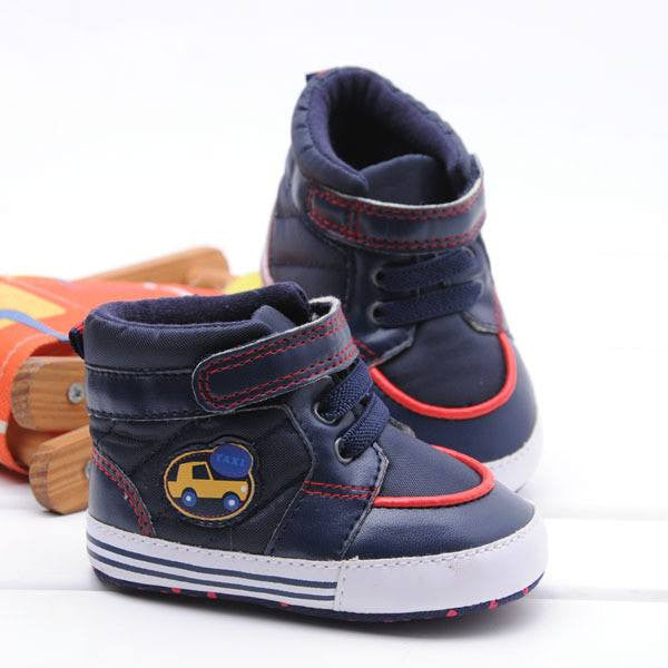 Baby Boys High Top Style Soft Baby Shoes