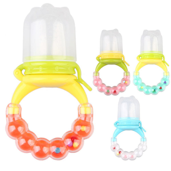 Baby Fresh Food Nibbler Feeder Pacifier with Built In Teether and Rattle