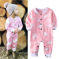 Baby Girl ( Dont Moose With Me )  Romper Sleeper