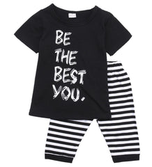 ( Be the best you ) Shirt and Long Shorts Set