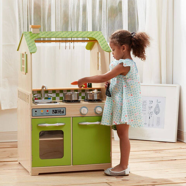 Teamson Kids - Green Play Kitchen with Dual Washers Set