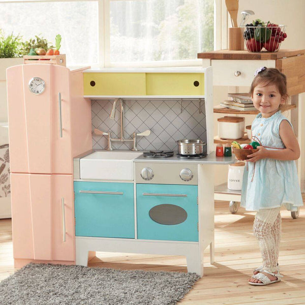 Teamson Kids - Playful Bubble Gum Wooden Play Kitchen