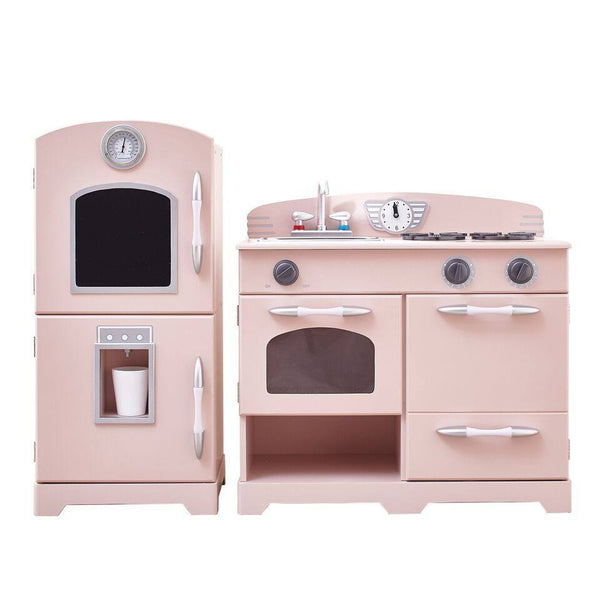 Teamson Kids - Retro Pink Play Kitchen (2 Pieces)