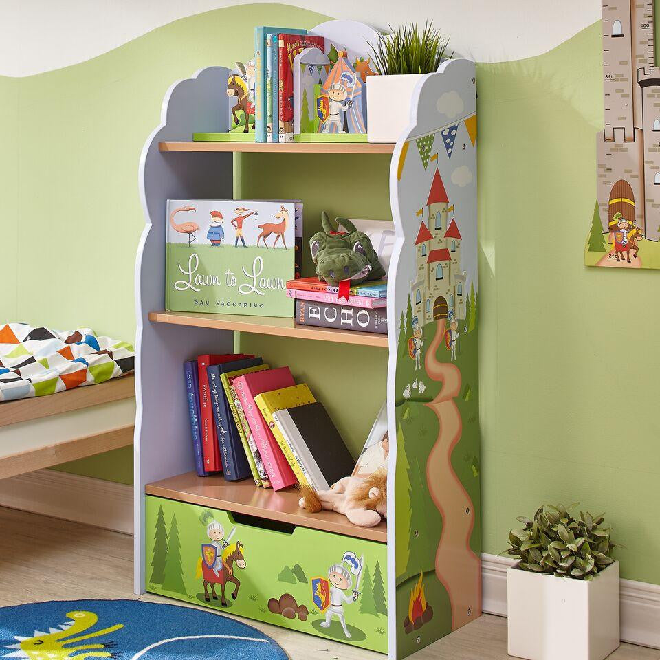 large kids bookcase vick ninja for shelf products bedroom green deals furniture bookcases s bookshelf great character