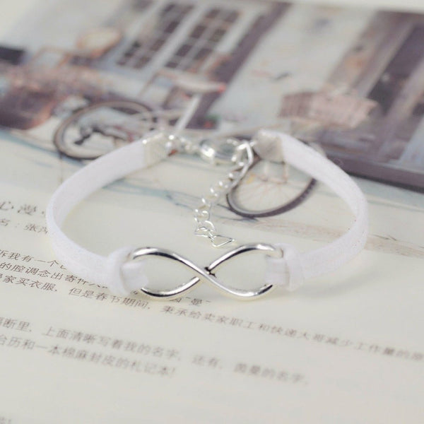 Ladies Stylish Infinity Bracelet. 15 colors available.