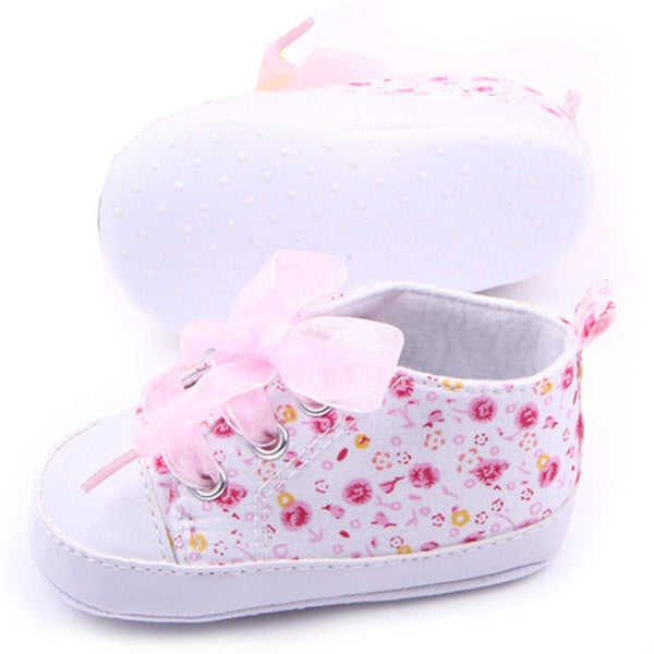 Choice of Baby Girl Floral Pattern Baby Shoes.