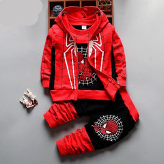 Choice of Boys 3 Piece Spiderman Sets. Hoodie Shirt and Pants