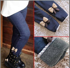 Choice of Girls Denim Leggings with Bows