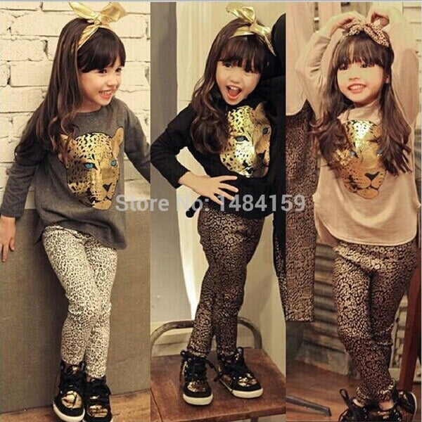 Choice of Girls Leopard Outfits. Pants and Shirt