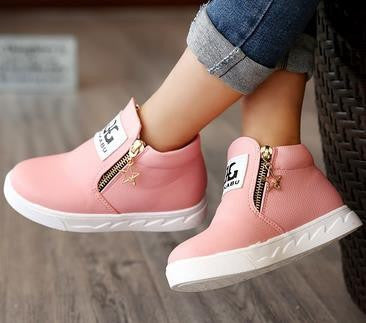 Choice of Girls Stylish Zipper Boots Shoes
