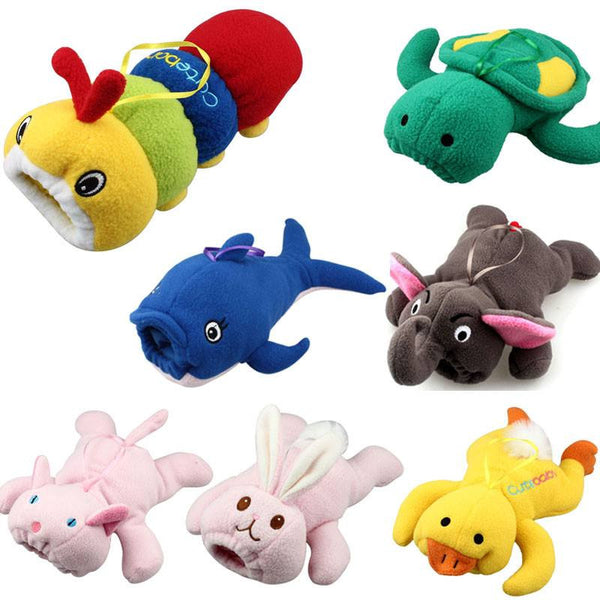Choice of Plush Cartoon Animal Baby Bottle Holder Insulator