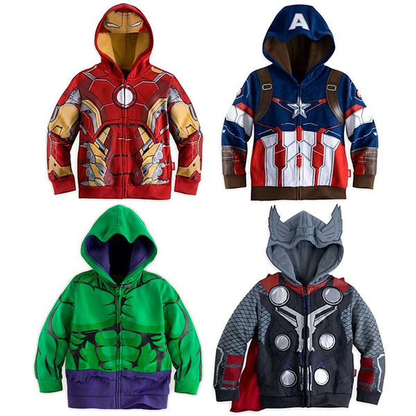 Choice of Superhero Zip Up Hoodies