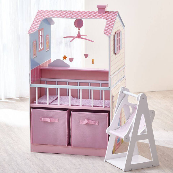 Teamson Kids - Pink Baby Nursery Doll House