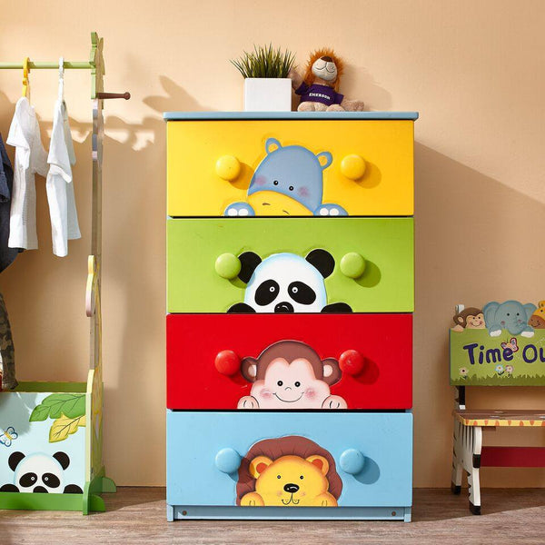 Fantasy Fields - Sunny Safari 4 Drawer Cabinet with 8 Handles