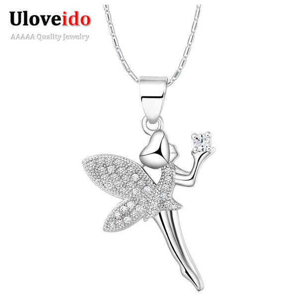 Girls / Ladies Crystal Tinkerbell Pendant Necklace
