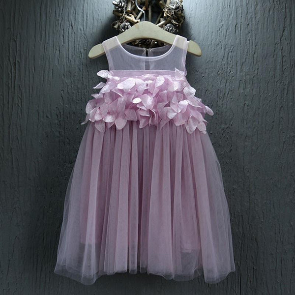 Girls Princess Tutu Flower Dress