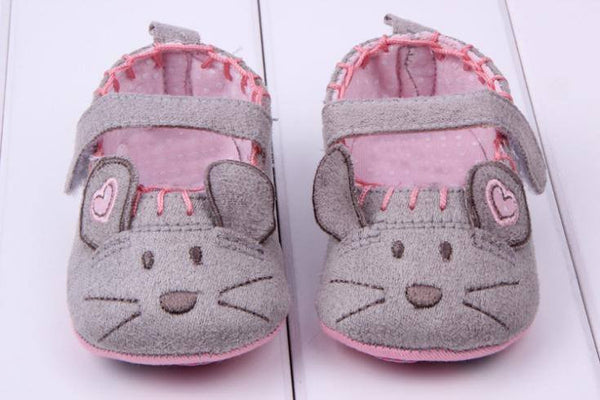 Handcrafted Soft Mouse Baby Shoes