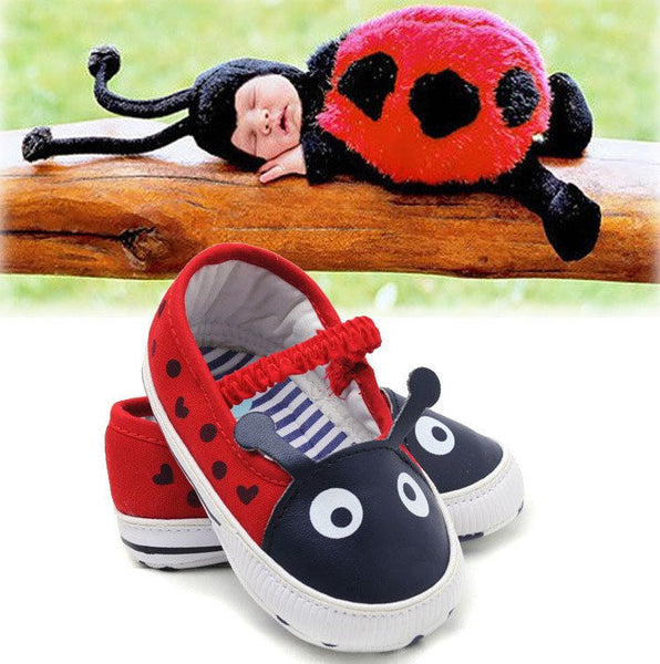Infant Baby Lady Bug Shoes