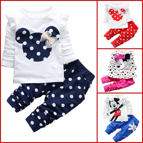 Minnie and Mickey Shirt and Pants Sets