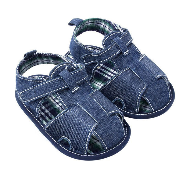 New Blue Jean Baby Sandal Shoes First Walkers Shoes