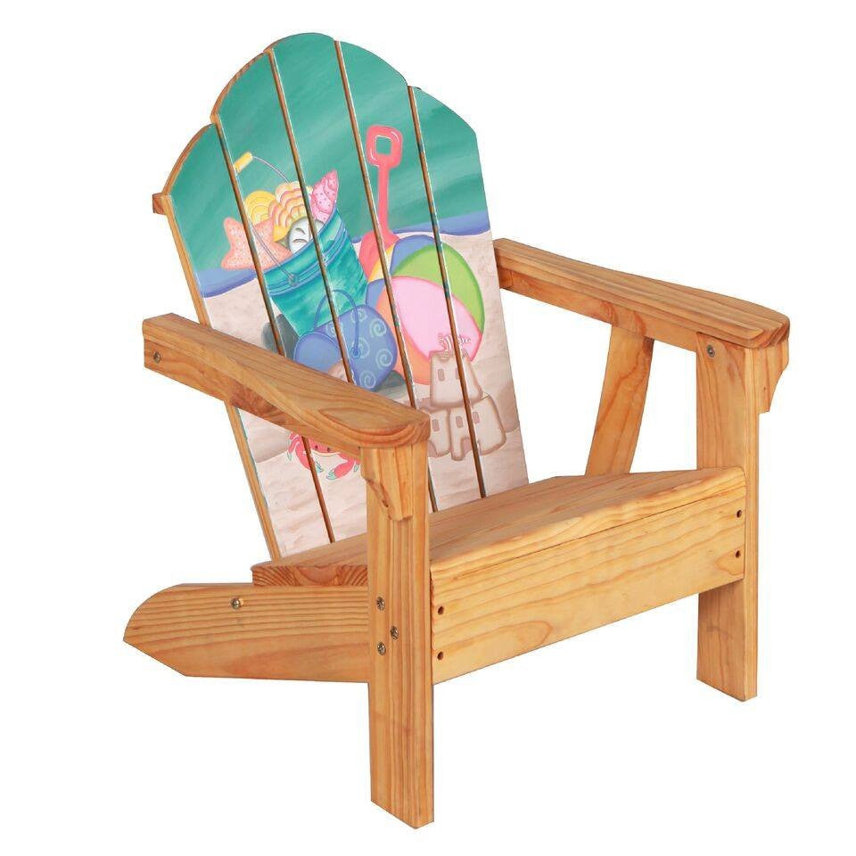 Etonnant ... Teamson Kids   Outdoor Kids Table And Adirondack Chair Set With  Umbrella   Sea Turtle ...