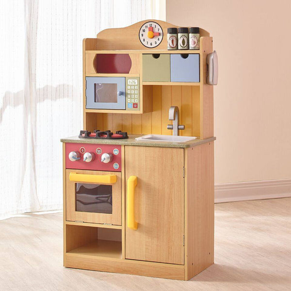Teamson Kids - Little Chef Burlywood Kitchen with Accessories