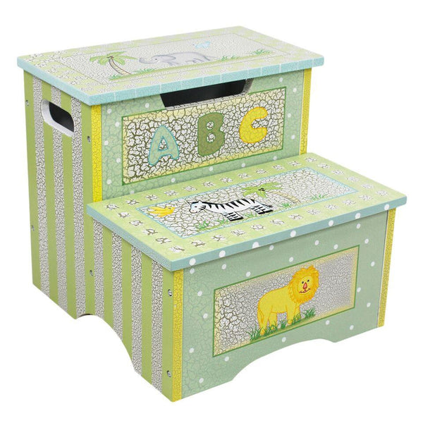 Teamson Kids- Safari Crackle Step Stool w/ Storage