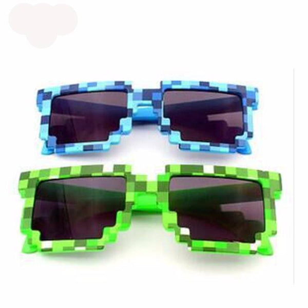 Choice of Boys or Girls Minecraft Sunglasses. Blue Green Purple or White