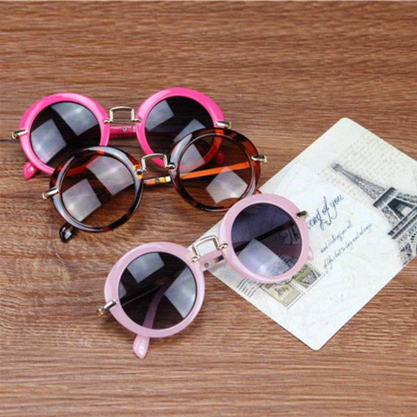 Round Retro Sunglasses for Boys or Girls. Choice of Color