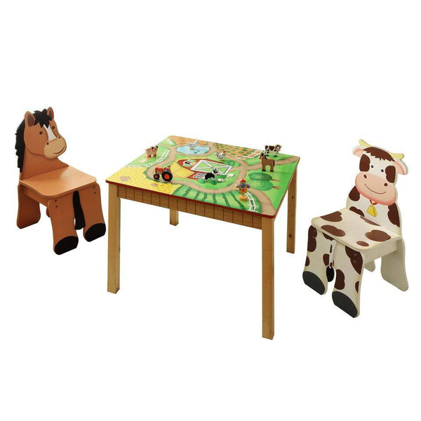 Fantasy Fields - Happy Farm Table & Set of 2 Chairs