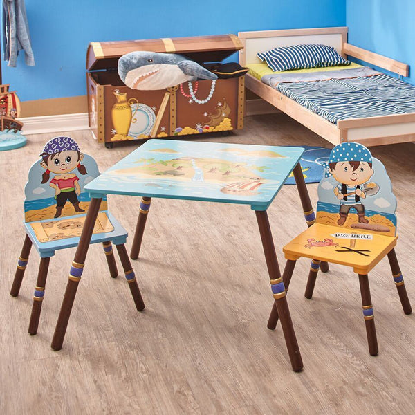 Fantasy Fields - Pirate Island Table & Set of 2 Chairs -B
