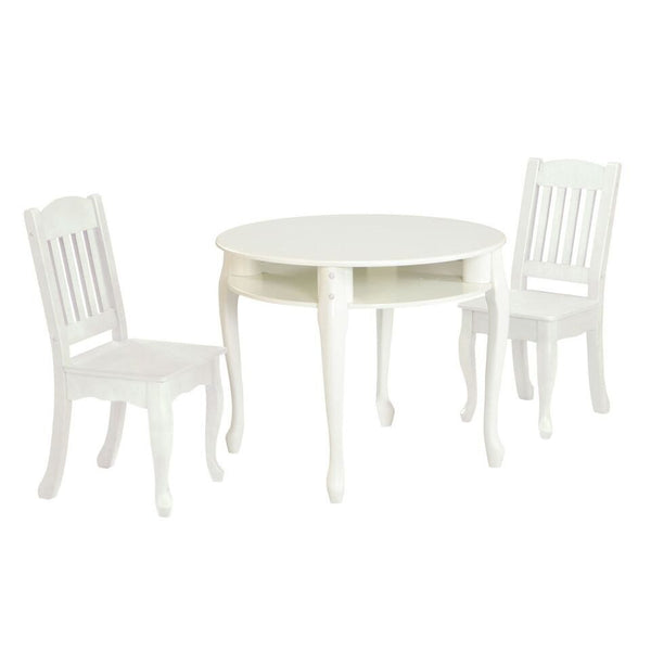 Teamson Kids - Windsor Round Table & Set of 2 Chairs - White