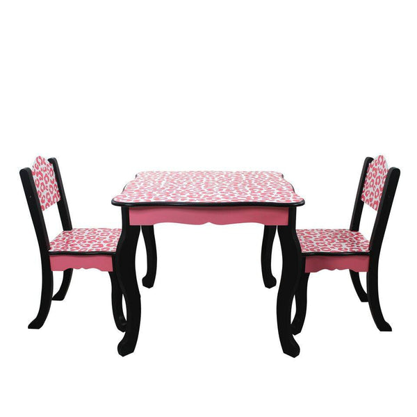 Teamson Kids - Leopard Kids Table and 2 Chairs Set