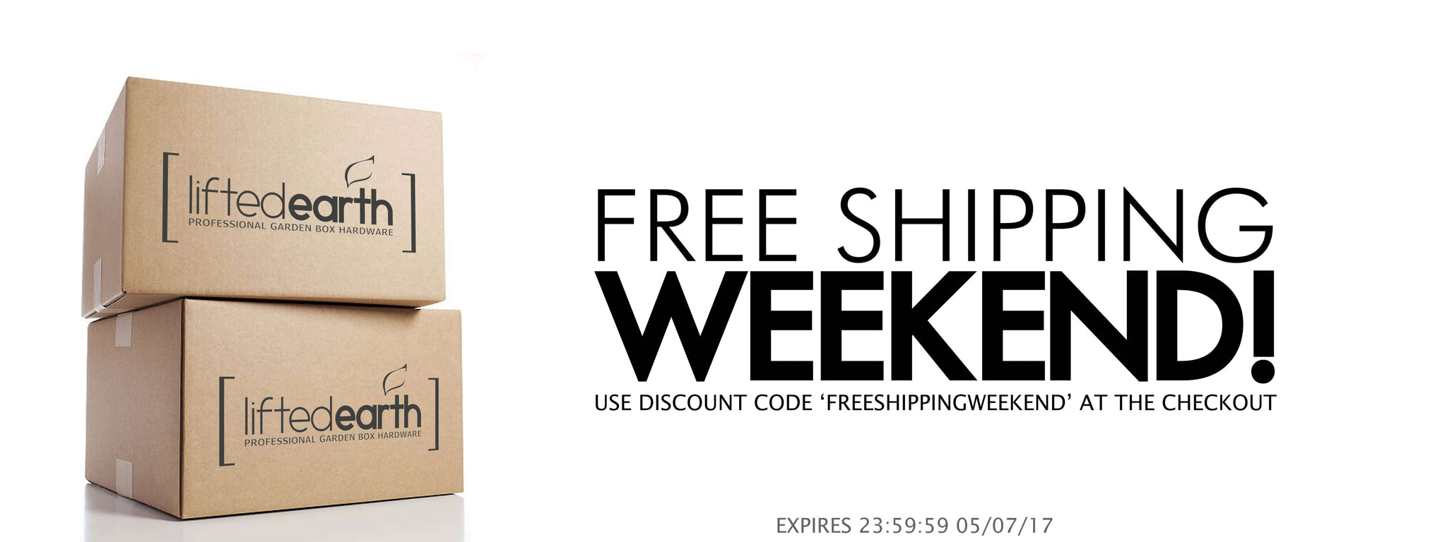 IT'S A FREE SHIPPING WEEKEND!