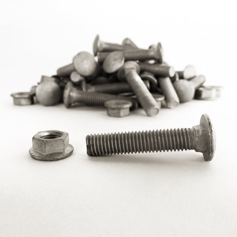 LIFTED EARTH GARDEN BOX HARDWARE - GALVANIZED BOLTS AND NUTS
