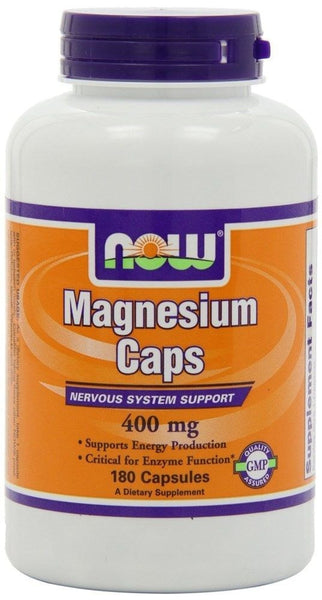 Now Foods Magnesium Caps, 400 mg, 180 Capsules