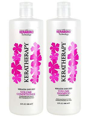 Keratherapy Keratin Infused Volume Shampoo & Conditioner, 32 oz
