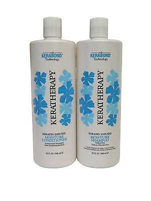 Keratin by Keratherapy Infused Moisture Shampoo & Conditioner 33.8 oz each - BEAUTY IT IS