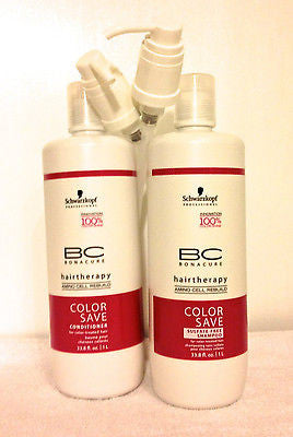 Schwarzkopf Bonacure Color Save Shampoo & Conditioner Duo Set, 33.8 Oz